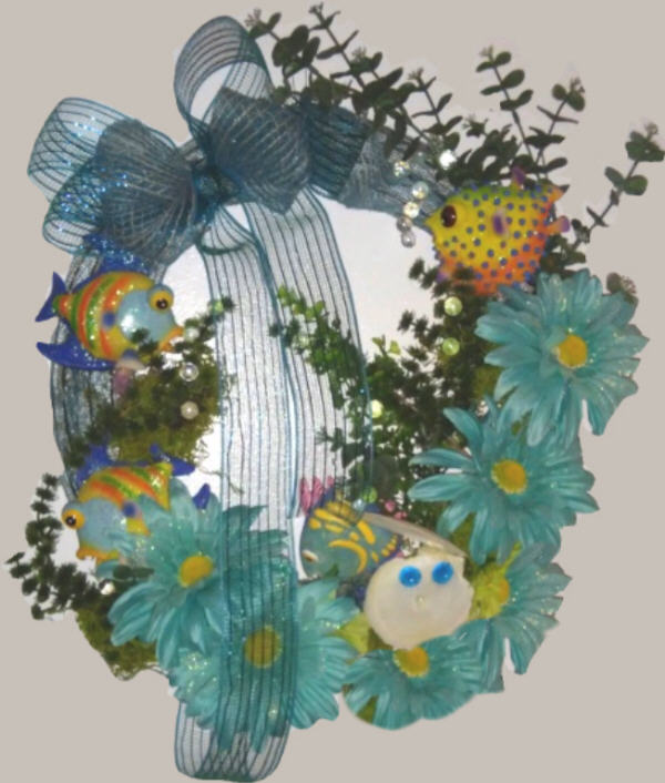 DECORATED Under The Sea Wreath Decor
